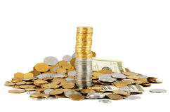 Faccia i soldi Fotografia Stock