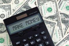 Faccia i soldi Immagine Stock Libera da Diritti
