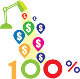 Faccia i soldi per progettazione immagini stock