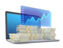 Faccia i soldi sulla linea Immagini Stock Libere da Diritti
