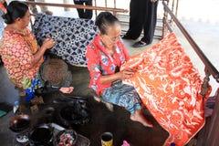 Faccia il batik fotografia stock