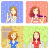 Faccia il coiffure Immagine Stock