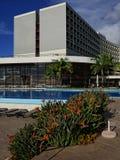 Faccia il giardinaggio in hotel cinque stelle a Funchal sull'isola del Madera nell'Oceano Atlantico immagini stock