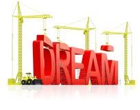 Faccia il sogno venire allineare realizzano le aspirazioni illustrazione di stock