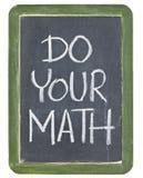 Faccia il vostro per la matematica Fotografia Stock