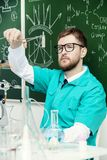 Faccia l'esperimento chimico Fotografia Stock Libera da Diritti