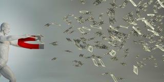 Faccia l'investimento dei soldi fotografia stock