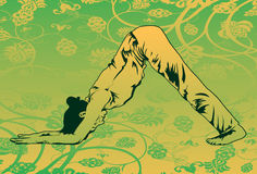 Faccia l'yoga per mantenere la vostra misura del corpo Immagini Stock