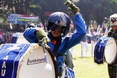 Faccia la fanfara dai cadetti di aeronautica indonesiani. Immagini Stock Libere da Diritti