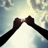 Faccia la promessa in cielo Fotografie Stock Libere da Diritti