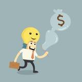 Faccia le idee a soldi illustrazione di stock
