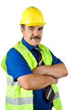 Faccia maturare la costruzione dell'assistente tecnico Immagini Stock