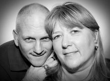 Faccia maturare le coppie B&W Fotografie Stock