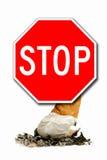 Faccia non fumando Immagini Stock