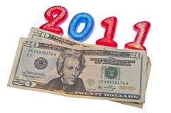 Faccia più soldi in 2011 Fotografie Stock Libere da Diritti