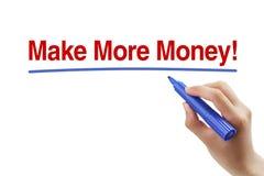 Faccia più soldi fotografia stock