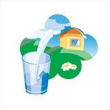 Faccia pubblicità all'illustrazione. Latte. Immagini Stock