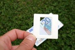 Faccia scorrere, euro venti Fotografia Stock