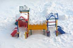 Faccia scorrere il ander la neve Fotografia Stock