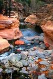 Faccia scorrere l'inverno della roccia Immagine Stock Libera da Diritti