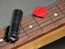 Faccia scorrere la chitarra fotografie stock