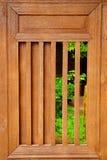 Faccia scorrere la finestra di legno Immagine Stock Libera da Diritti
