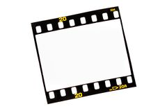 Faccia scorrere le strisce della pellicola con i blocchi per grafici vuoti Immagine Stock