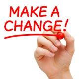Faccia un cambiamento Immagine Stock