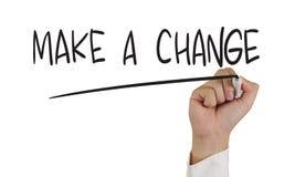Faccia un cambiamento Fotografia Stock Libera da Diritti