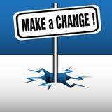 Faccia un cambiamento munire di segnaletica Immagini Stock Libere da Diritti