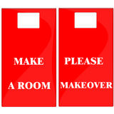 Faccia un contrassegno della stanza Immagine Stock
