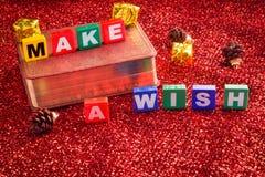 Faccia un desiderio Fotografie Stock