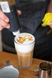 Faccia un disegno di caffè Fotografia Stock Libera da Diritti