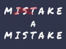 Faccia un errore Immagine Stock