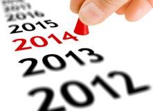 Faccia un passo nel nuovo anno Fotografia Stock Libera da Diritti