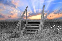 Faccia un passo in un futuro più luminoso Fotografie Stock