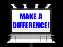 Faccia un segno di differenza rappresenta la motivazione per Fotografia Stock Libera da Diritti