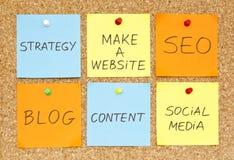 Faccia un Web site Immagine Stock
