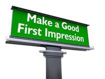 Faccia una buona prima impressione illustrazione vettoriale