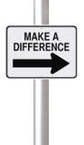 Faccia una differenza Immagine Stock