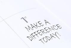 Faccia una differenza Fotografie Stock Libere da Diritti