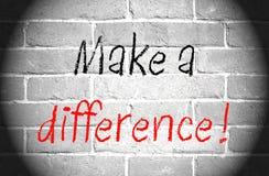 Faccia una differenza Fotografia Stock Libera da Diritti