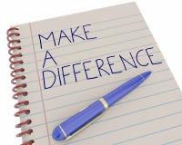 Faccia una differenza far del benee la penna del lavoro Fotografia Stock