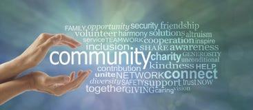 Faccia una differenza in vostra nuvola di parola della Comunità