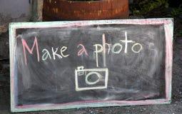 Faccia una foto Fotografia Stock