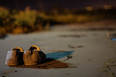 Faccia una passeggiata in loro scarpe Fotografia Stock Libera da Diritti