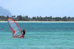 Faccia windsurf su! Immagini Stock