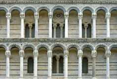 Facciata ad ovest, cattedrale di Pisa Fotografia Stock