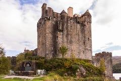 Facciata ad ovest del castello di Eilean Donan dello Scottish Immagine Stock Libera da Diritti
