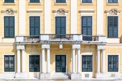 Facciata ad ovest del palazzo di Schonbrunn, Vienna, Austria Immagini Stock